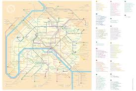 Metro Paris Map by Silvia Radelli Reimagines Paris Metro Map Naming Stations After