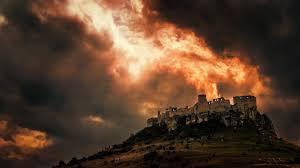 burning castle by emmmbeee on deviantart