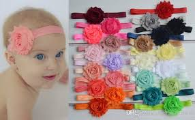 infant headbands baby headbands or thick elastic shabby chic headband
