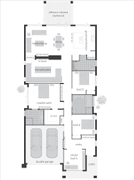 Skinny Houses Floor Plans Baby Nursery Narrow Frontage House Designs Narrow Lot House
