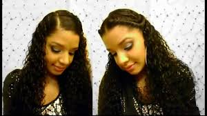 how to 2 easy cute quick curly hairstyles tutorial natural