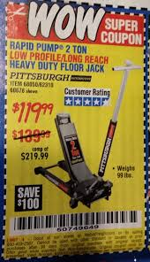 Pittsburgh Jack Harbor Freight Tools Coupon Database Free Coupons 25 Percent
