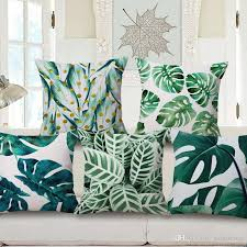 Lawn Chair Cushion Covers 11 Styles Green Leaves Cushion Covers Tropical Summer Plants
