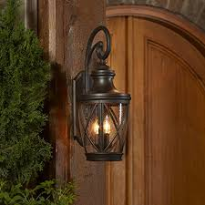 Allen And Roth Light Fixtures by Allen Roth Castine 23 75 In H Rubbed Bronze Outdoor Wall Light