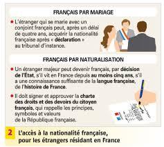 nationalit fran aise mariage etre ou devenir français
