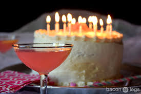 birthday cake drink sixteen candles pink lemonade ombré layer cake bacon u0026 legs