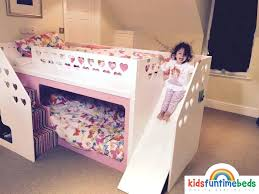 Bunk Bed With Storage Stairs Kids Bunk Bedskids Bed With Slide Childrens Bunk Beds With Storage