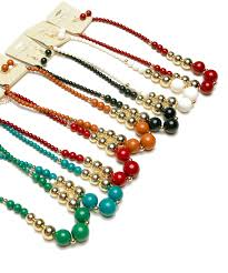 colour pearl necklace images 220 1 4 kpn10904 gold assorted color pearl necklace and earing set jpg