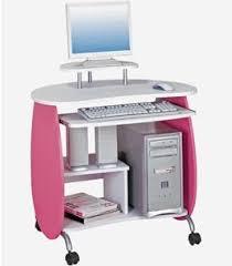 Pink Computer Desk Mesh Office Chair
