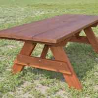 large wooden picnic table custom wood picnic table kit