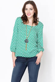 chevron blouse jon teal chevron blouse from mexico by the