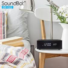 soundbot sb1022 fm radio alarm clock charging station with