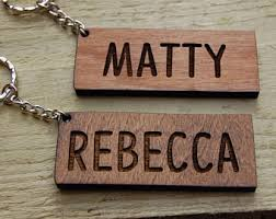 personalized wooden keychains wooden keyring etsy