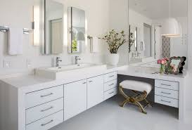 Waterfall Bathroom Furniture Bathroom Vanity With Makeup Counter Bathroom Contemporary With