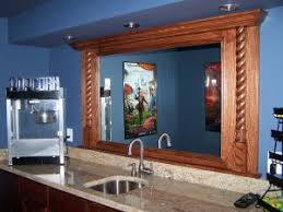 Bathroom Mirror Moulding A Beautiful Oak Frame Molding To Accommodate Corey S Mirror