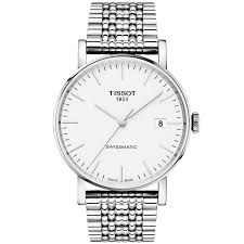 tissot steel bracelet images Tissot everytime 40mm silver dial men 39 s automatic bracelet watch jpg