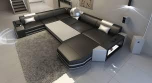 sofa l form mit schlaffunktion luxus designersofa aus leder groupon goods