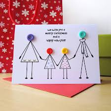 family christmas button card family christmas cards and