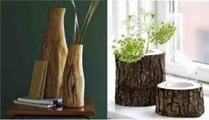 wood log vases diy log vase do it yourself ideas