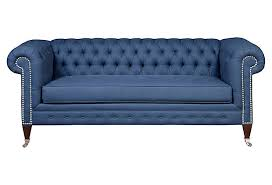 Chesterfield Sofa Used Chuck 82 Chesterfield Sofa Navy On Onekingslane Made Of