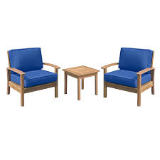kingston 3 piece wood chair and table set at home at home