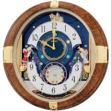 seiko melodies in motion animated musical wall clock