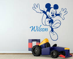 stickers home picture more detailed picture about custom boys custom boys name happy jumping mickey mouse art wall stickers home nursery bedroom funny decor vinyl