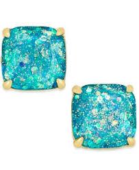 glitter stud earrings kate spade new york gold tone small square glitter stud earrings