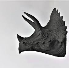 Dinosaur Head Wall Mount Triceratops Dinosaur Wall Mount Boy U0027s Room Decor