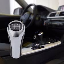 pu leather 6 speed manual mt gear stick shift knob for bmw e46 e90