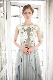 white and grey wedding dress gray wedding dress iris blue grey silk wedding dress