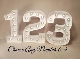 marquee numbers with lights wow factor light up numbers incl batteries