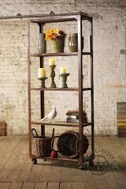 rustic metal shelves numéro 3 iron u0026 wood rolling shelving unit apartment inspiration
