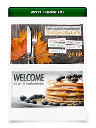 thanksgiving day banners vinyl banners