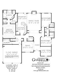 House Plans Bungalow Wellington Bungalow House Plan House Plans By Garrell Associates