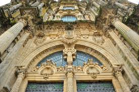 baroque architecture front cover of the cathedral of santiago