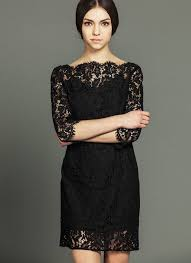 black lace mini dress with sabrina neck and eyelash details rd595