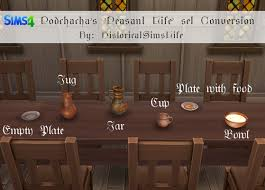 Sims 4 Furniture Sets Ts4 Podchacha U0027s Peasant Life Set Conversion History Lover U0027s