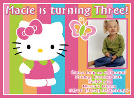 free printable hello kitty birthday party invitations template