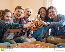 celebrating home home interiors group of students party stock photo image 40256998