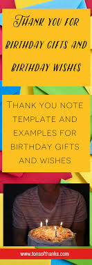 thank you for the birthday wishes thank you note exles for