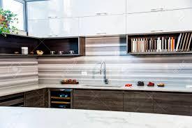 modern white wood kitchen cabinets brown wood kitchen cabinets with granite countertop backsplash