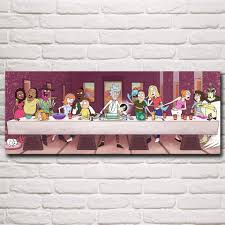 rick and morty the last supper poster walrus wears rick and morty the last supper poster