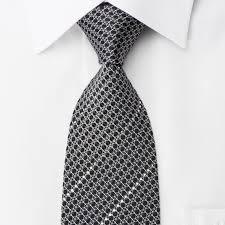 silk necktie silver trellis u0026 striped rhinestones on black