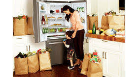 Samsung French Door Refrigerator Cu Ft - shop samsung 21 8 cu ft french door refrigerator with ice maker