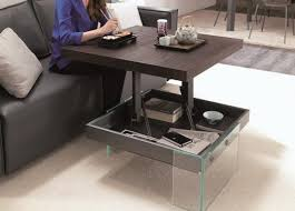 adjustable height end table adjustable height coffee tables foter pertaining to table idea 14