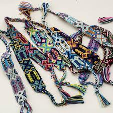 friendship bracelet rainbow images Handmade woven rope string hippy boho rainbow silk macrame jpg