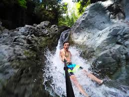 slip and slide waterfall 35 feet high in 4k devinsupertramp