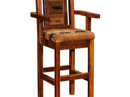 Wooden Bar Stool With Back Furniture Black Walnut Wood Bar Stool With Ladder Backrest Pine