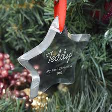Personalised Christmas Decorations In Bulk by Exclusive Personalised Christmas Bauble Optical Crystal Star